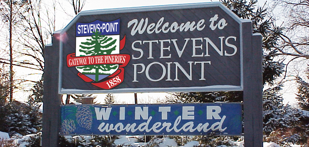 Welcome Sign says Winter Wonderland
