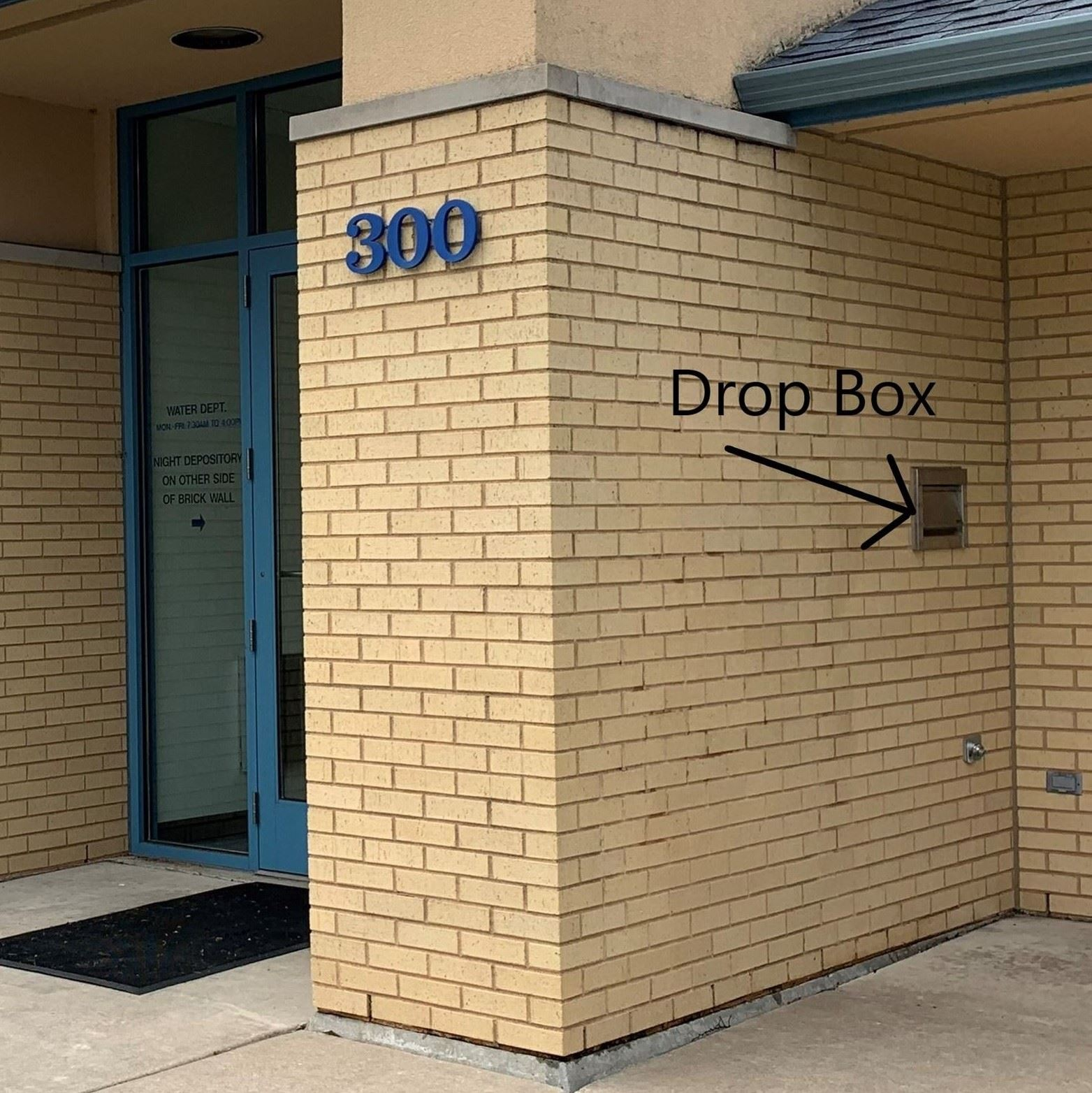 Water Dept. Drop Box